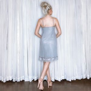 Adrianna Papell Dresses - Silver Grey Bridesmaid Party Homecoming Dress